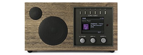 Como Audio: Solo - Wireless Music System with Internet Radio, Spotify Connect, Wi-Fi, FM, and Bluetooth - Walnut/Black
