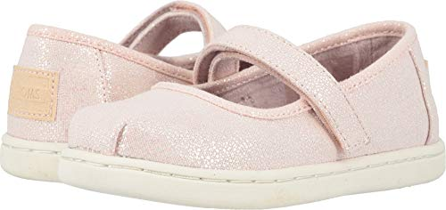 TOMS Kids Baby Girl's Mary Jane (Toddler/Little Kid) Pink Iridescent Droplets 7 M US -