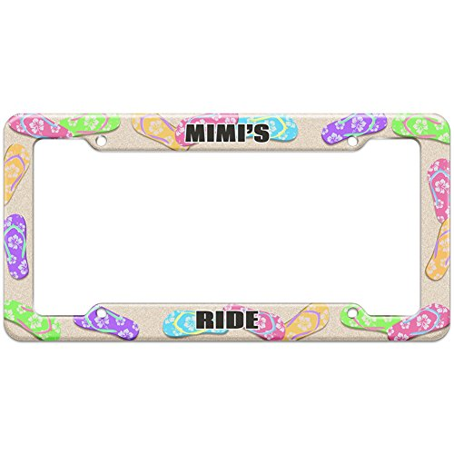 Graphics and More Flip Flops Beach License Plate Frame Ride Names Female Mic-Mis - Mimi