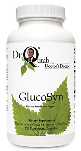 GlucoSyn by Dr Qutab The Doctor's Doctor - Supports Healthy Glucose Metabolism, Supports Healthy Blood Lipid Levels Already in The Normal Range, Improves/Maintains Healthy Nerve - Maintain Healthy