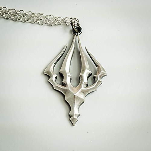 Hollow Knight King's Brand silver pendant - video game cosplay jewelry - necklace