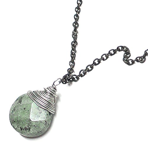 iolette Dainty Chain Wire-Wrapped Necklace Gunmetal ()