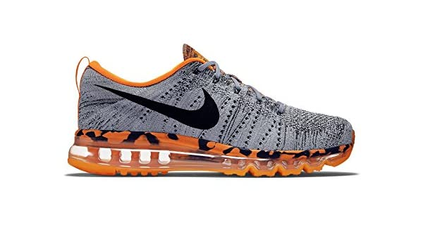 the latest c7030 2cf22 Nike Flyknit Air Max 747361-008 Wolf Grey Orange Black Men s Running Shoes  (8US 7UK 41EUR 26cm)  Amazon.ca  Sports   Outdoors