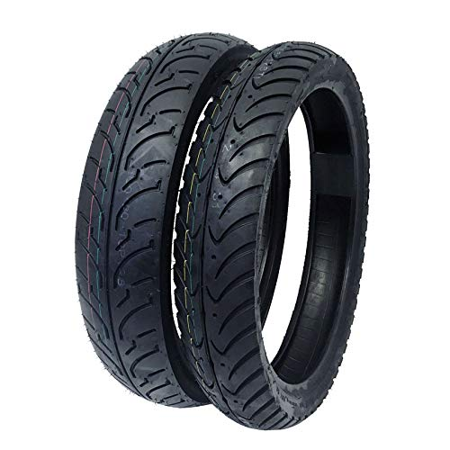 MMG TIRE Set Combo Front Tire 80/80-16 and Rear Tire 100/80-16 Motorcycle Scooter Street Performance