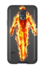 Heidiy Wattsiez's Shop 2784535K55639276 Hot Fashion Design Case Cover For Galaxy S5 Protective Case (human Torch)