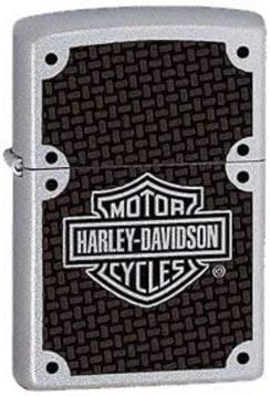 Silver, 5 1//2 x 3 1//2 cm Zippo Harley-Davidson Full Face Bolts Lighter