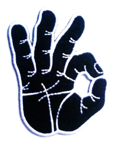 Ok Okay Hand Sign Signal Logo Retro Applique Iron-on Patch