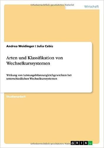 Book Arten Und Klassifikation Von Wechselkurssystemen