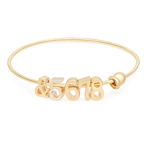 - Dainty Personalized Bracelet Dance Gift Bangle Bracelet (Gold)