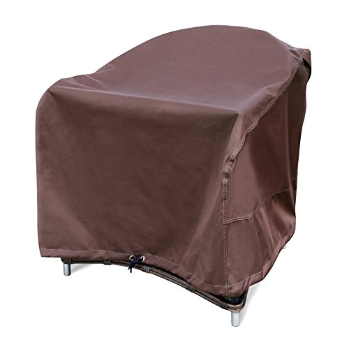 QQbed 4 Pack Outdoor Patio Chair Waterproof Cushion Pillow Seat Duvet Covers in Cocoa Brown Color 18 X16 X4 – Replacement Covers Only
