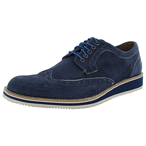 Donald J Pliner Mens Chaussures Evex Mode Bleu Marine Chaussures En Daim Oxfords