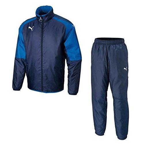 PUMA(プーマ)ウインドブレーカー上下セット アセンション パデッドジャケット/パンツ サッカーウェア 655470/655471 B07C2TRGYT04ネイビー×02ブルー XL