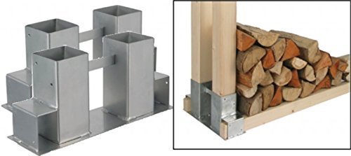Gravidus Set of 2 Wood Stackers Firewood for fireplaces and