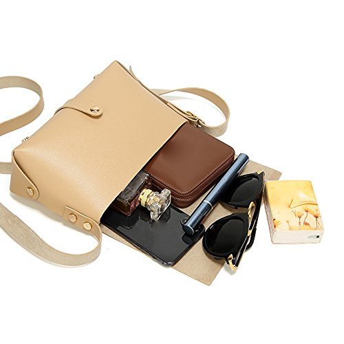 Color Square Fashion Adjustable Small Body Shoulder Bag Cross Women Strap Beige for Red Bags Candy Bag wq74xxtzFn