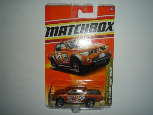 2011 Matchbox Mitsubishi L200/Triton Gold Brown #77 of 100