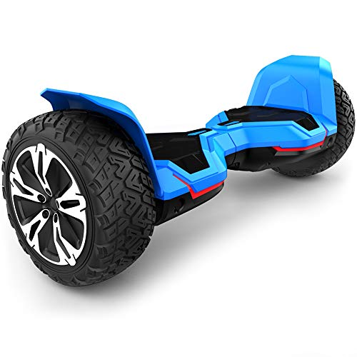 Gyroor Warrior 8.5 inch All Terrain Off Road Hoverboard with Bluetooth Speakers and LED Lights, UL2272 Certified Self Balancing Scooter 2018(Blue)