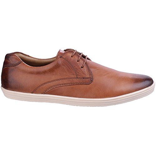 Base London Mens Concert Burnished Casual Leather Lace Up Shoes Navy