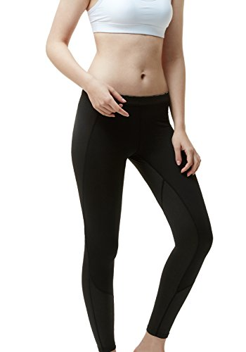 Tesla TM-XUP33-KLB_Large Women's Thermal Wintergear Compression Baselayer Pants Leggings Tights XUP33
