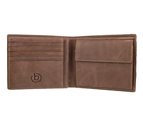 bugatti Volo Cartera piel 12 cm marrón