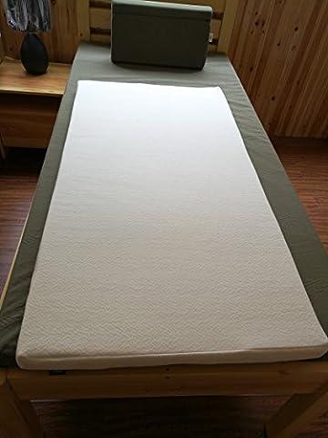 INNX 2 inch Ultra Soft HOME/RV/Travel Trailer/CAMPER Memory Foam Mattress Topper ,Pressure Relieving Mattress Pad,Bed Pad (Mattress Toppers, Crib, - Travel Pad