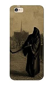 Hot Dark Grim Reaper Horror Skeletons Skull Creepy First Grade Tpu Phone Case For Iphone 6 Plus Case Cover