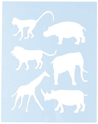 (Faux Like a Pro Safari Animal Stencil, 5.5 by 7-Inch, Single Overlay)