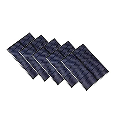 uxcell 1.2W 5V Small Solar Panel Module DIY Polysilicon for Toys Charger 5Pcs : Garden & Outdoor