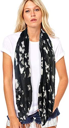 Mothers Day Ladies Cream Polka Dots on Navy Blue Silk Scarf-By TRIXES