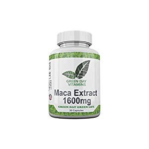 Green Day Vitamins 1600mg Maca Extract Dietary Supplement – High Potency Dietary…