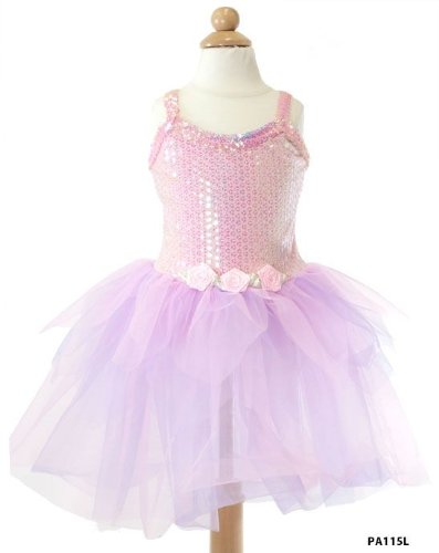 My Princess Academy Girls Costume Sequin Dress Pink & Lilac (Lg)