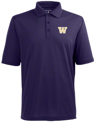 a9a17f4d055fa Washington Huskies Polo - NCAA Antigua Mens Pique Xtra-Lite Dark Purple -  XXX-