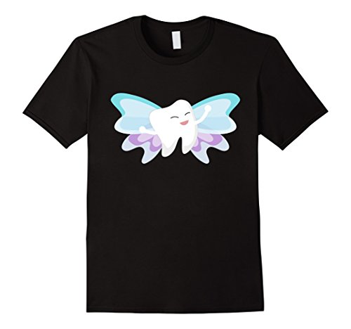 All Black Fairy Costume (Mens Tooth Fairy Cute Halloween Costume - T-shirt 3XL Black)