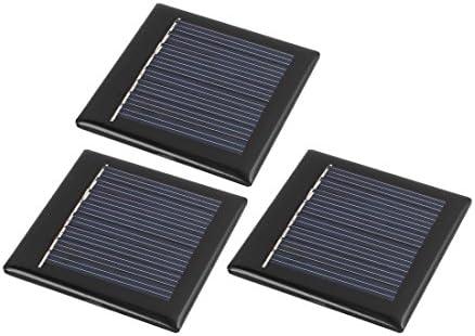 sourcing map 3Pcs 55mm x 55mm 4 Volt 40mA Polykristalline Solarzellen Panel Modul DE de