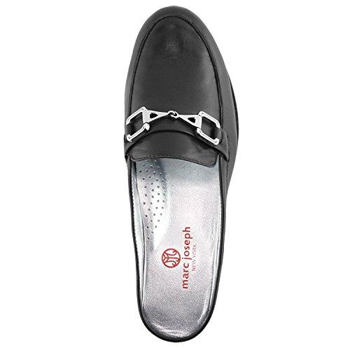 Femmes En Cuir Véritable Made In Brésil Occasionnels Park Ave Mule Marc Joseph Ny Chaussures De Mode Noir Napa