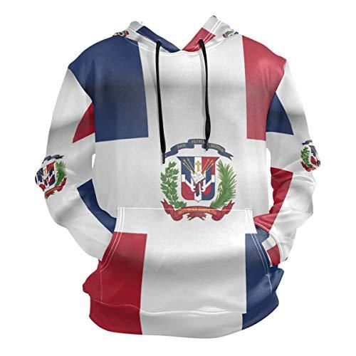 super3Dprinted Dominican Republic Flag Men's Pullover Hooded Sweatshirt