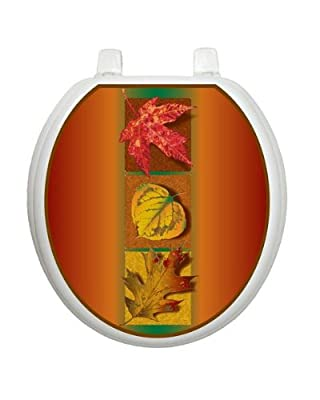 Autumn Leaves Toilet Tattoo TT-L300-R Round Fall Halloween