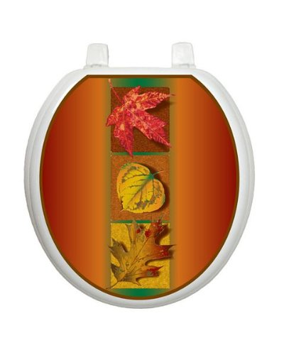 Autumn Leaves Toilet Tattoo TT-L300-R Round Fall Halloween