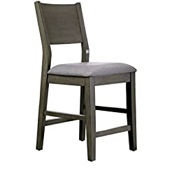 HOMES: Inside + Out IDF-3986PC Dane Counter-Height Chair Gray Modern (Set of 2)