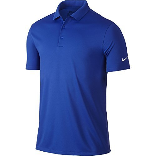 Nike Golf Victory Solid Polo (Game Royal/White) XL