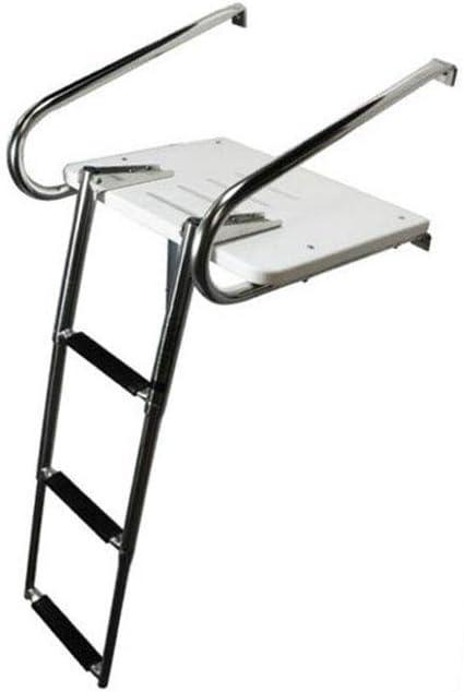 East Kay Boat in Board Fiberglass Swim Platform with 3-Steps Telescopic Ladder