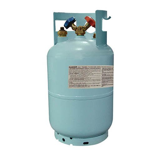Mastercool (67010) Blue DOT R134A Recovery Refrigerant Cylinder with Float Switch and 1/2'' Acme Connection - 30 lb. Capacity
