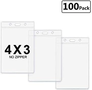 Plastic Pouch ID Holder Ticket Holder Pass Holder PVC Pocket 100 mm x 100 mm