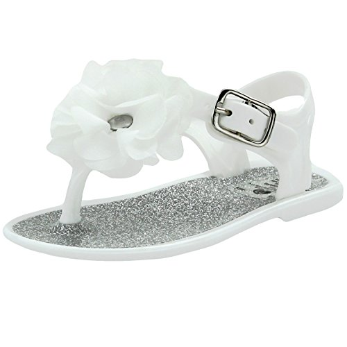 fa4bad92a900 Stepping Stones Girls Jelly Sandals Jelly Shoes Glitter Flower - Import ...