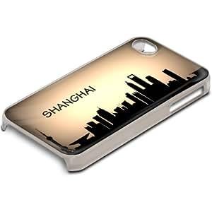 Viaje Shanghai, Voyage, Custom Design Claro PC Ultradelgado Caso Duro Carcasa Funda Protección Tapa Hard Case Cover Shell con Diseño Colorido para Apple iPhone 4 4S.