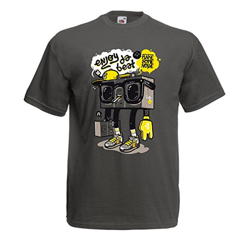 T Shirts For Men Enjoy The Beat - Make Some Noise - For Party, Hiphop, Street, Hipster Style (X-Large Graphite Multi - Style Blog Pregnancy