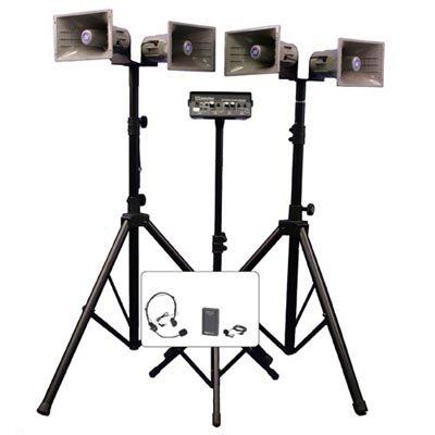 APLSW662 - Deluxe Wireless Quad Horn Half-Mile Hailer Kit