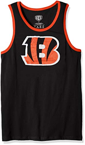 NFL Cincinnati Bengals Men's OTS Cotton Tank, Distressed Logo, Medium (Cincinnati Bengals Football Jersey)