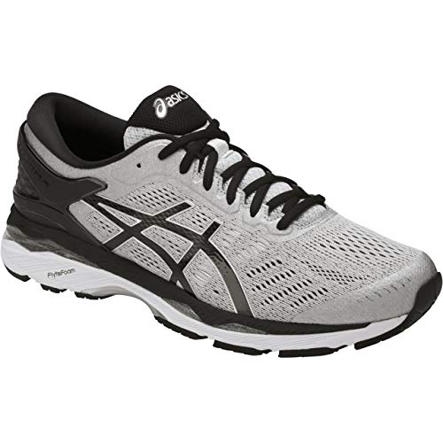 ASICS Mens Gel-Kayano 24 Running Shoe Silver/Black/Mid Grey 11 Medium US