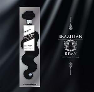 "10-28 inch 100% RAW Virgin Brazilian Remy Human Hair Extensions Wavy Weave Weft Bundle #1B (22"")"