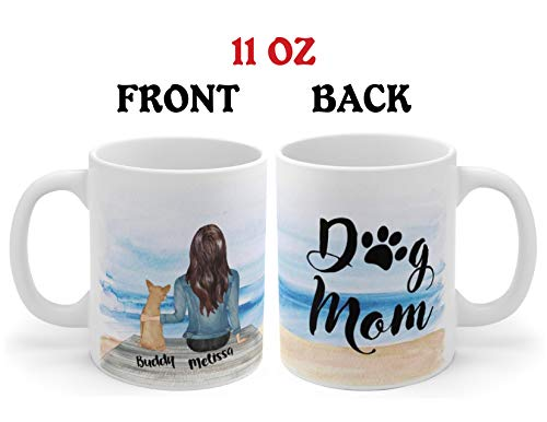 (Personalized Dog Mug - Customizable Pet Name and Picture Custom Coffee Mug - Perfect Gift Idea For Dog Lovers, Fur Mom or Dad, In Memory of Fur Babies, Pet Memorial Coffee Cup)